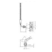 Термопара с уменьшенным цилиндрическим корпусом и прямоугольным отводом