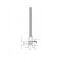 Термопара плоская с крепежным уголком (прижимом), со штифтом для винта