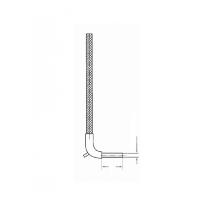 Термопара со вставным цилиндрическим корпусом. Удерживающий штифт для крепления пружины