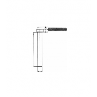 Датчик цилиндрический с прямоугольным отводом