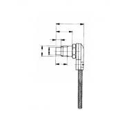 Термопара цилиндрическая с плоским дном. Прижимная пружина. Усиленная конструкция