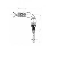 Термопара цилиндрическая с отводом прямоугольной формы